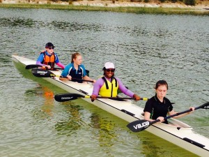 Alicia, Angelina, Oneli and Gabby in the K4. Lovely smile Oneli!