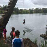 Kids in river
